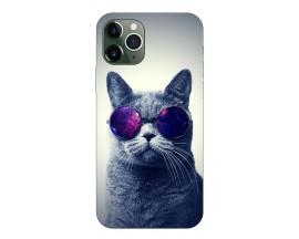 Husa Premium Upzz Print iPhone 11 Pro Max Model Cool Cat