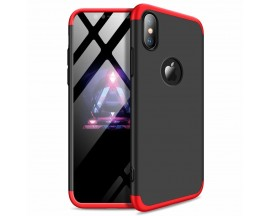 Husa 360 Grade Upzz Protection iPhone X/ Xs Red-negru
