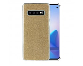 Husa Spate Upzz Shiny Lux Samsung S10+ Plus Gold