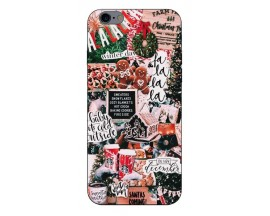 Husa Slim Silicon Upzz X-Mass Print iPhone 6/6S Model Cookies