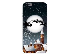 Husa Slim Silicon Upzz X-Mass Print iPhone 6/6S Model Santa 1