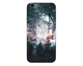 Husa Slim Silicon Upzz X-Mass Print iPhone 6/6S Model Town