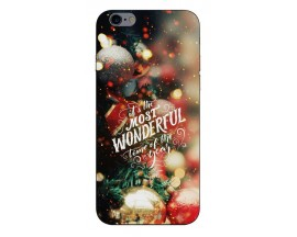 Husa Slim Silicon Upzz X-Mass Print iPhone 6/6S Model Wonderful