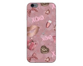 Husa Slim Silicon Upzz X-Mass Print iPhone 6/6S Model Xoxo