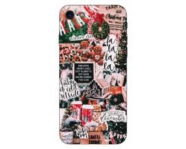Husa Slim Silicon Upzz X-Mass Print iPhone 7/8 Model Cookies