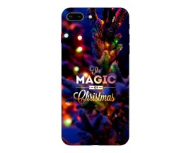Husa Slim Silicon Upzz X-Mass Print iPhone 7 Plus /8 Plus Model Magic