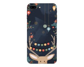 Husa Slim Silicon Upzz X-Mass Print iPhone 7 Plus /8 Plus Model Ren