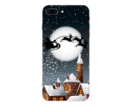 Husa Slim Silicon Upzz X-Mass Print iPhone 7 Plus /8 Plus Model Santa 1