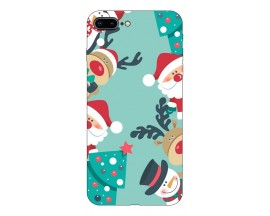Husa Slim Silicon Upzz X-Mass Print iPhone 7 Plus /8 Plus Model Snowman