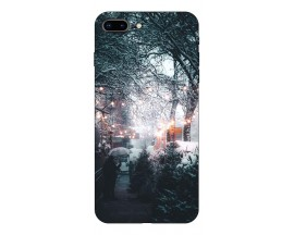 Husa Slim Silicon Upzz X-Mass Print iPhone 7 Plus /8 Plus Model Town