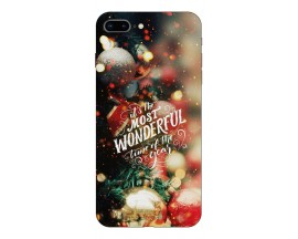 Husa Slim Silicon Upzz X-Mass Print iPhone 7 Plus /8 Plus Model Wonderful