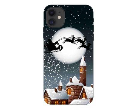 Husa Slim Silicon Upzz X-Mass Print iPhone 11 Model Santa 1