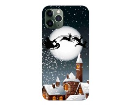 Husa Slim Silicon Upzz X-Mass Print iPhone 11 Pro Model Santa 1