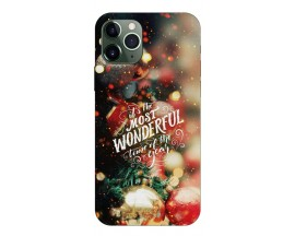 Husa Slim Silicon Upzz X-Mass Print iPhone 11 Pro Model Wonderful