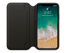 Husa Originala Folio Leather iPhone X/XS Negru MQRV2ZM/A