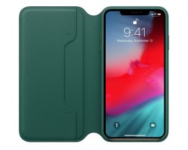 Husa Originala Folio Leather iPhone XS Max Forest Green MRX42ZM/A