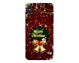 Husa Slim Silicon Upzz X-Mass Print iPhone XS Max Model Clopotei 2