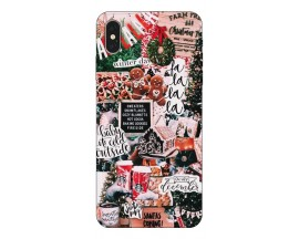 Husa Slim Silicon Upzz X-Mass Print iPhone XS Max Model Cookies