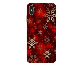 Husa Slim Silicon Upzz X-Mass Print iPhone XS Max Model Fulgi 1