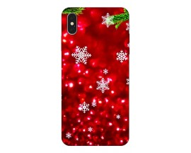 Husa Slim Silicon Upzz X-Mass Print iPhone XS Max Model Fulgi 3