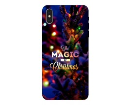 Husa Slim Silicon Upzz X-Mass Print iPhone XS Max Model Magic
