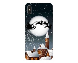 Husa Slim Silicon Upzz X-Mass Print iPhone XS Max Model Santa 1