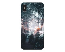 Husa Slim Silicon Upzz X-Mass Print iPhone XS Max Model Town