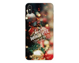 Husa Slim Silicon Upzz X-Mass Print iPhone XS Max Model Wonderful