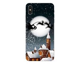 Husa Slim Silicon Upzz X-mass Print iPhone X/XS Model Santa 1
