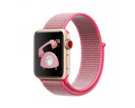 Curea Apple Watch Upzz Nailon Sport 42/44mm ,Roz