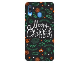 Husa Slim Silicon Upzz X-Mass Print Samsung Galaxy A40 Model Christmas 1