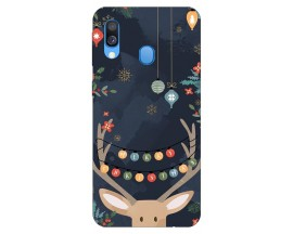 Husa Slim Silicon Upzz X-Mass Print Samsung Galaxy A40 Model Ren