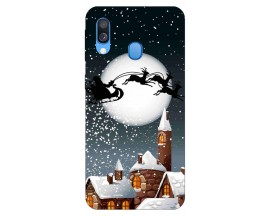 Husa Slim Silicon Upzz X-Mass Print Samsung Galaxy A40 Model Santa 1