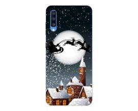 Husa Slim Silicon Upzz X-Mass Print Samsung Galaxy A70 Model Santa 1