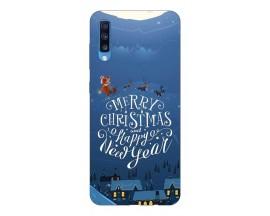 Husa Slim Silicon Upzz X-Mass Print Samsung Galaxy A70 Model Santa 2