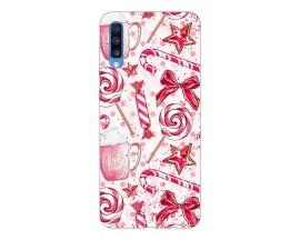 Husa Slim Silicon Upzz X-Mass Print Samsung Galaxy A70 Model Sweet
