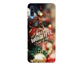 Husa Slim Silicon Upzz X-Mass Print Samsung Galaxy A70 Model Wonderful