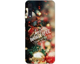 Husa Slim Silicon Upzz X-Mass Print Samsung Galaxy A50 Model Town
