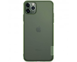Husa Spate Ultra Slim Nillkin Nature iPhone 11 Pro Max Transparenta Verde
