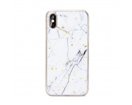 Husa Spate Forcell Marble Silicone iPhone X/XS Model 1