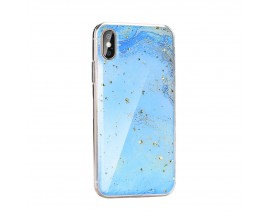 Husa Spate Forcell Marble Silicone iPhone X/XS Model 3