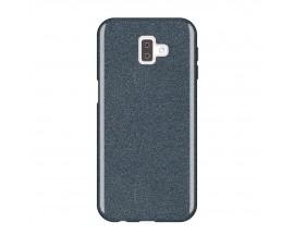 Husa Spate Upzz Shiny Lux Samsung J6+ Plus 2018 Negru