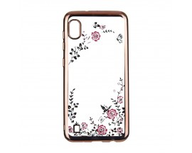 Husa Spate Forcell Bling Diamond Samsung Galaxy A10 Rose Gold