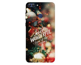Husa Silicon Soft Upzz Print X-Mass Huawei P Smart 2018 Model Wonderful