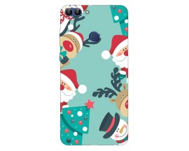 Husa Silicon Soft Upzz Print X-Mass Huawei P Smart 2018 Model SnowMan