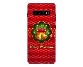 Husa Silicon Soft Upzz Print X-Mass Samsung S10+ Plus Model Clopotei1