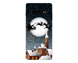 Husa Silicon Soft Upzz Print X-Mass Samsung S10+ Plus Model Santa 1