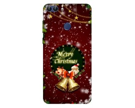 Husa Silicon Soft Upzz Print X-Mass Huawei P Smart 2018 Model Clopotei2