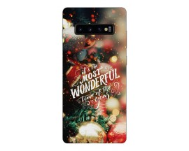 Husa Silicon Soft Upzz Print X-Mass Samsung S10+ Plus Model Town