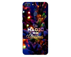 Husa Silicon Soft Upzz Print X-Mass Huawei P Smart 2018 Model magic